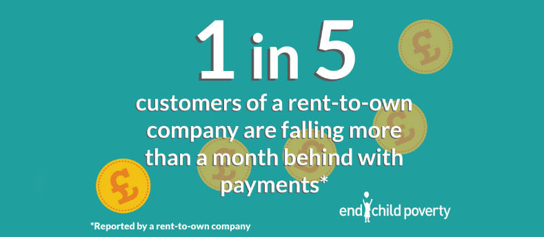 1 in 5 customers of a rent-to-own company are falling more than a month behind with payments