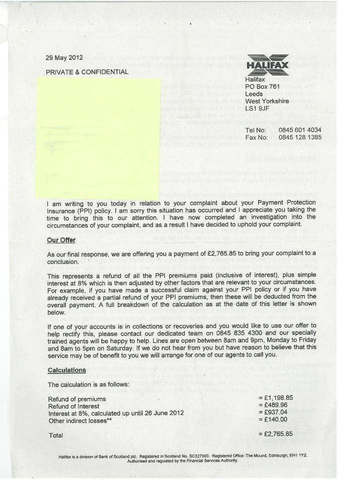 ppi claim template letter to bank reclaiming ppi for free works