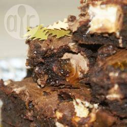 Close up photo of chocolate brownies