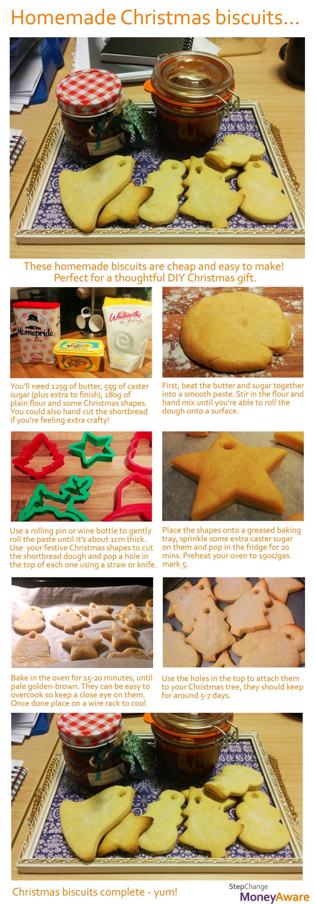 step by step visual guide to make biscuits