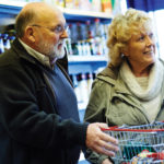 Elderly couple shopping