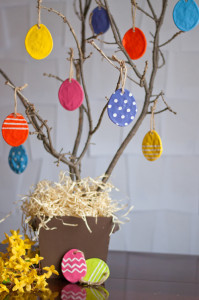 Salt dough Easter eggs