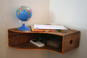 DIY shelf from magazine holder