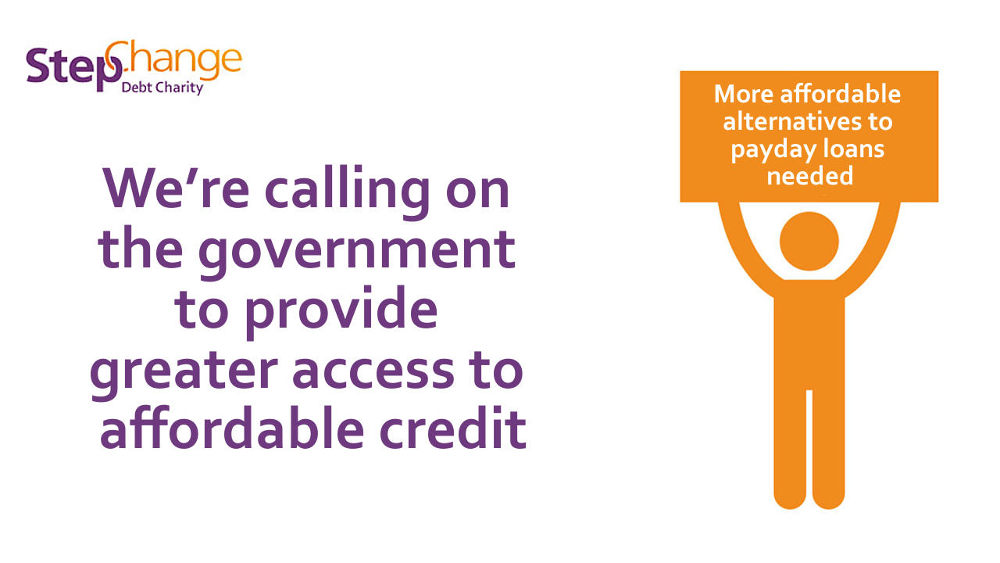 We want the government to provide more access to affordable credit