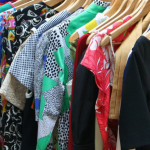 various patternd clothes on hangers