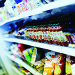 food bank stocked fridges