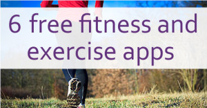 free fitness apps written across a photo of someone running in the country