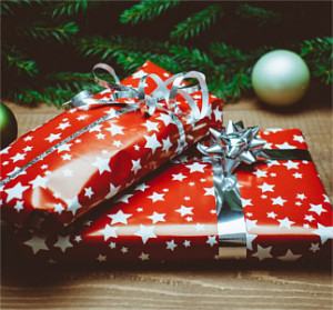 wrapped up presents