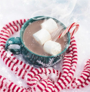 photo of hot chocolate drink with marshmallows