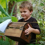 kid with treasure chest