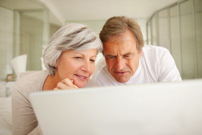 older couple browsing internet