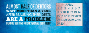 Nearly half of debtors waited a year