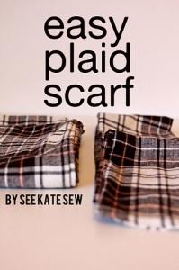 Homemade plaid scarf