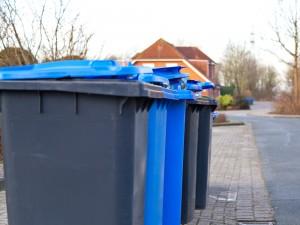 wheelie bins outside a house
