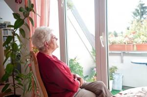 Elderly lady window