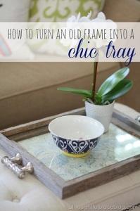 Decorative homemade tray