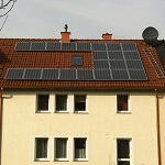 solar panel on roof eco friendly