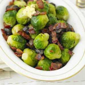 Sprouts, butter and bacon