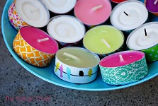 Washi candles